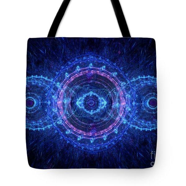 Blue Circle Fractal Tote Bag by Martin Capek