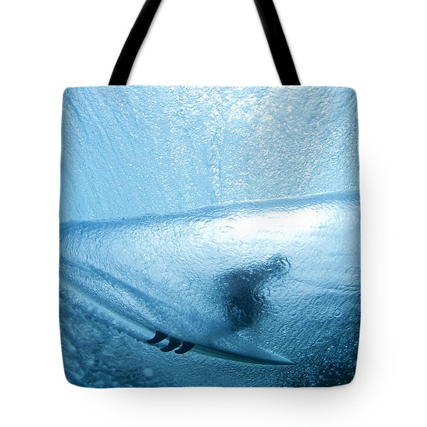 Blue Cocoon Tote Bag by Sean Davey
