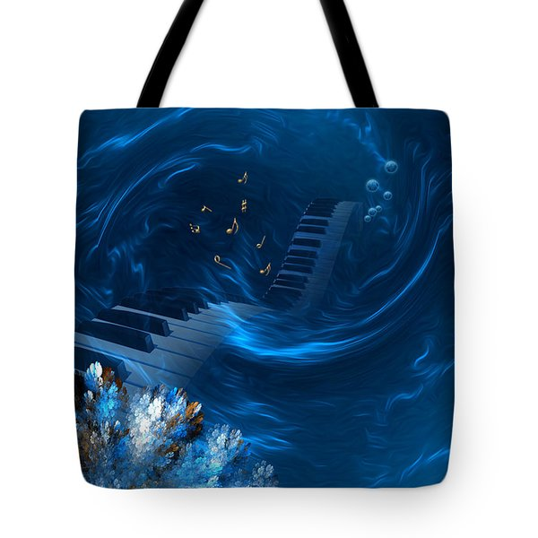Blue Coral Melody - Fantasy Art By Giada Rossi Tote Bag