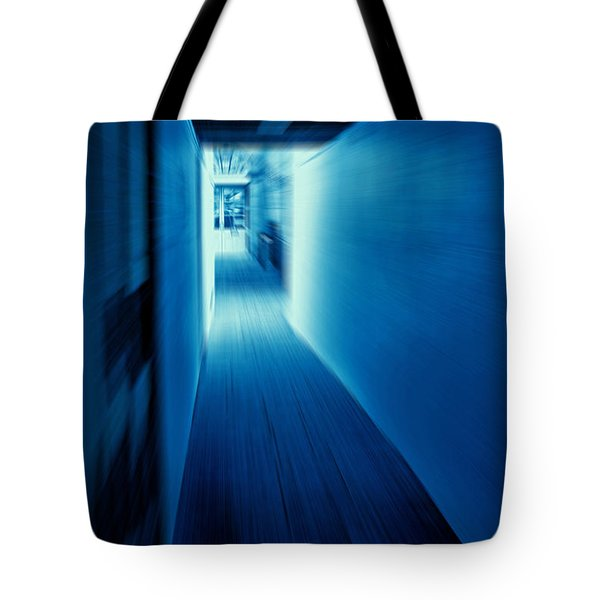Blue Corridor Tote Bag