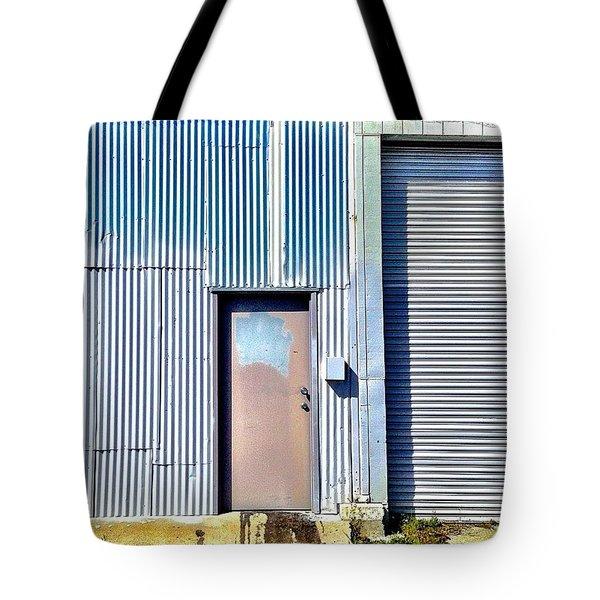 Blue Corrugation Tote Bag