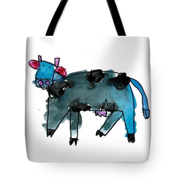 Blue Cow Tote Bag
