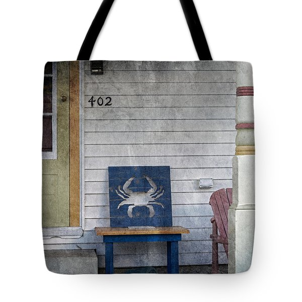 Blue Crab Chair Tote Bag