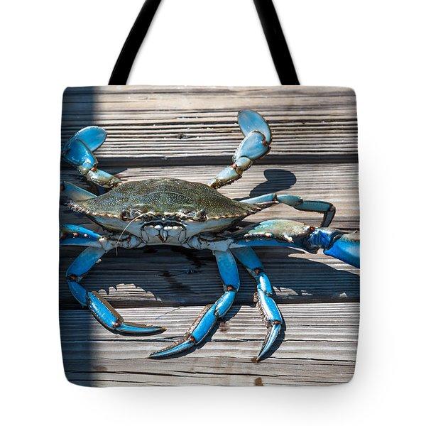 Blue Crab Pincher Tote Bag