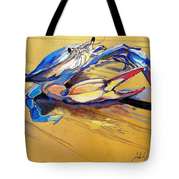 Blue Crabbie  Tote Bag