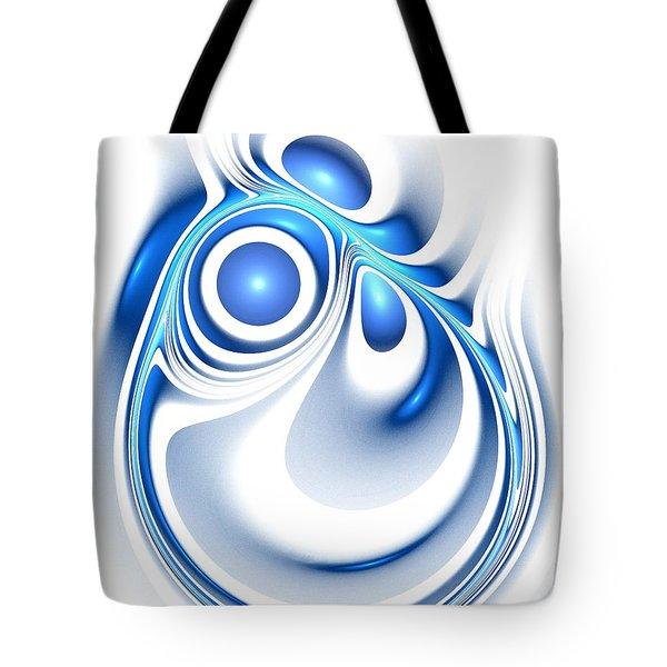 Blue Creation Tote Bag by Anastasiya Malakhova