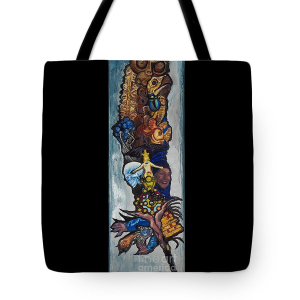 Blue Crow Feather- Crow Series Tote Bag