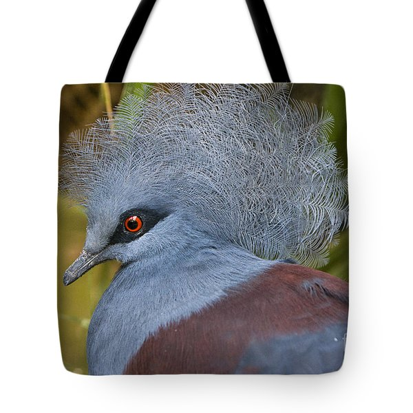 Tote Bag featuring the photograph Blue-crowned Pigeon by David Millenheft