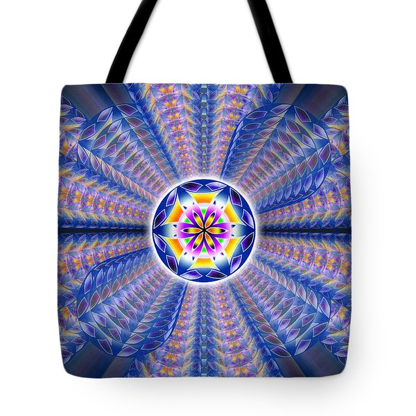 Blue Crystal Consciousness Tote Bag by Derek Gedney