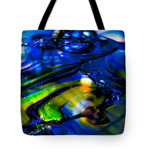 Blue Crystal Tote Bag by David Patterson