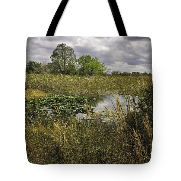 Blue Cypress Wetlands Tote Bag