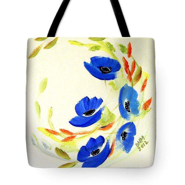 Tote Bag featuring the painting Blue Dance by Dorothy Maier
