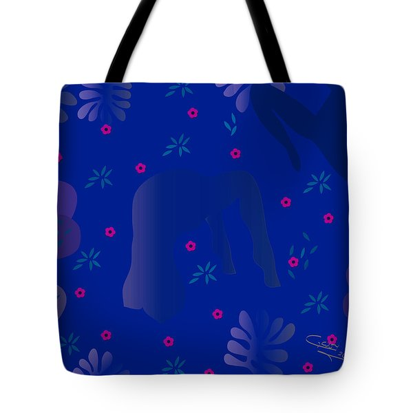 Blue Dance - Limited Edition  Of 30 Tote Bag by Gabriela Delgado