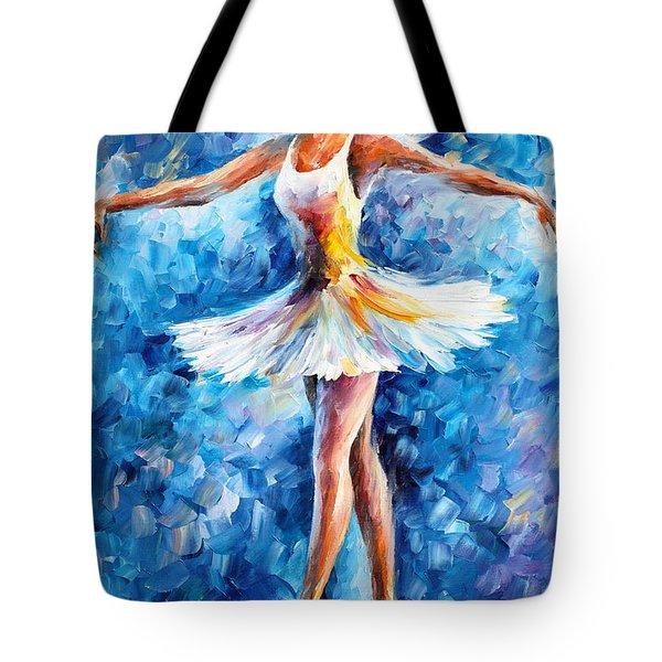 Blue Dance Tote Bag by Leonid Afremov
