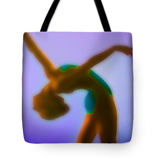 Blue Dance Tote Bag by Tony Rubino