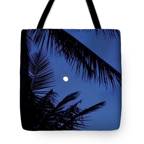 Blue Dawn Moon Tote Bag by Lehua Pekelo-Stearns