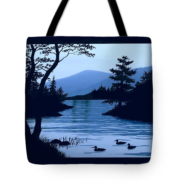 Blue Dawn On Lake George 11x14 Tote Bag