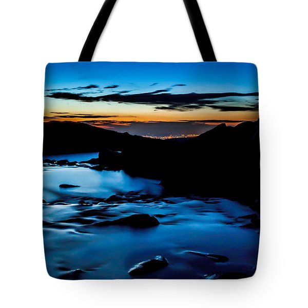Blue Dawn Tote Bag by Steven Reed