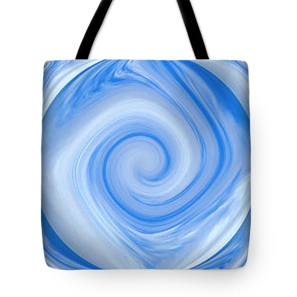 Blue Design Tote Bag