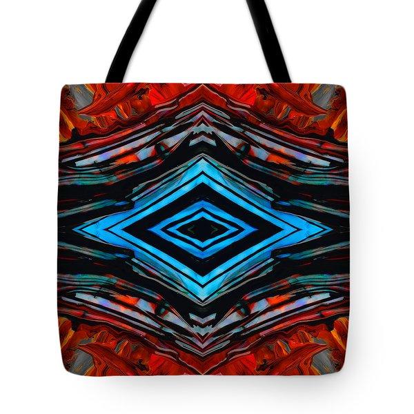 Blue Diamond Art By Sharon Cummings Tote Bag by Sharon Cummings