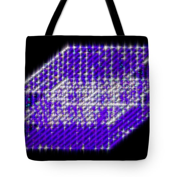 Blue Diamond Grid Tote Bag