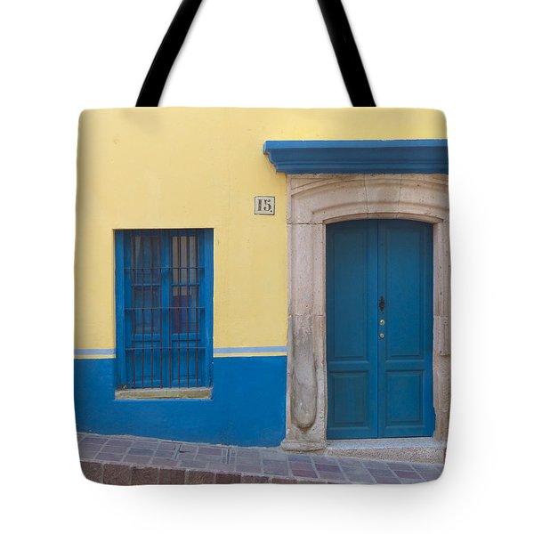 Blue Door Tote Bag by Douglas J Fisher