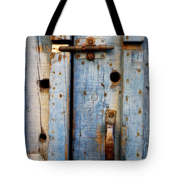 Blue Door Weathered To Perfection Tote Bag