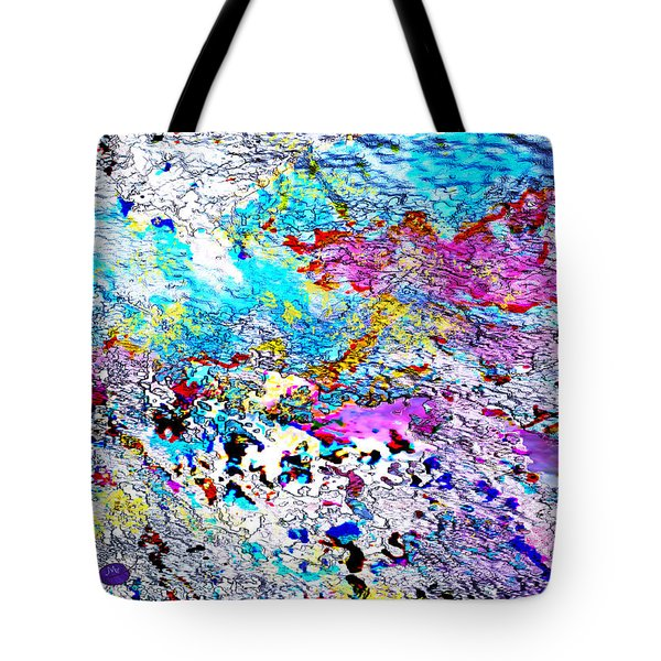 Blue Dragon Trail Tote Bag by Mathilde Vhargon