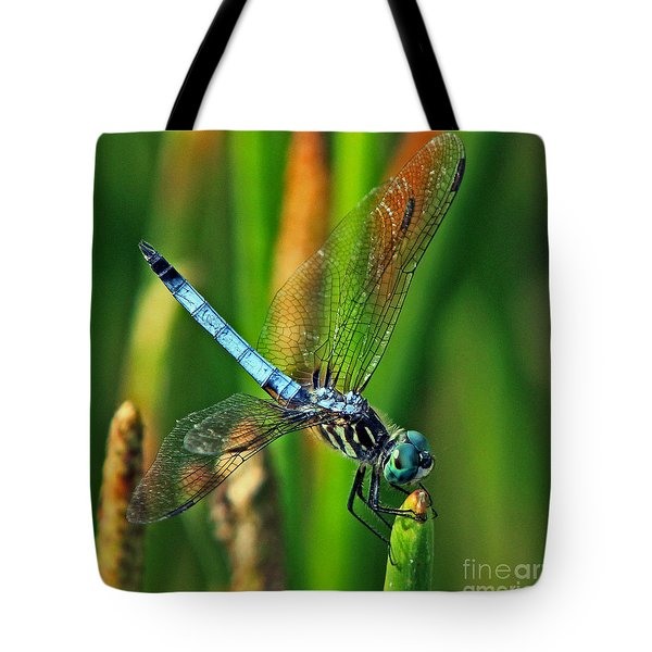 Blue Dragonfly Tiffany's Inspiration Tote Bag by Larry Nieland