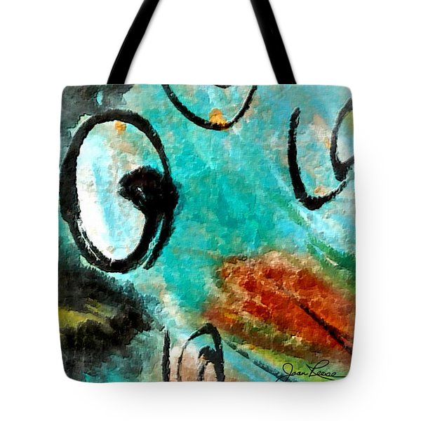 Tote Bag featuring the painting Blue Dream by Joan Reese
