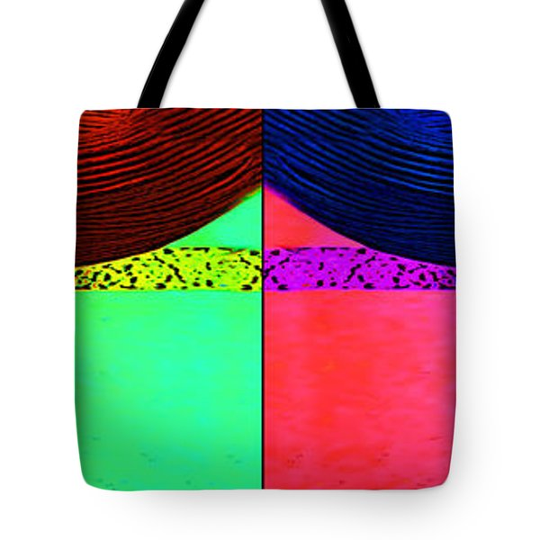 Blue Earring - Purple Lady Combo Tote Bag by Chuck Staley