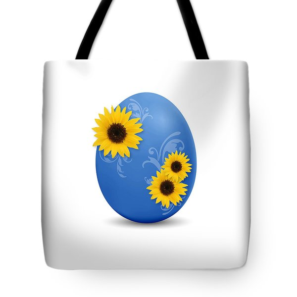 Blue Easter Egg Tote Bag