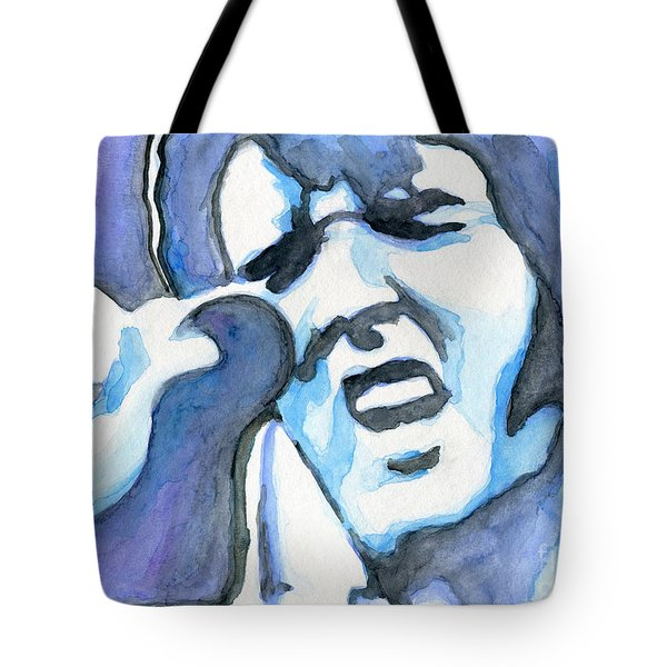 Blue Elvis Tote Bag
