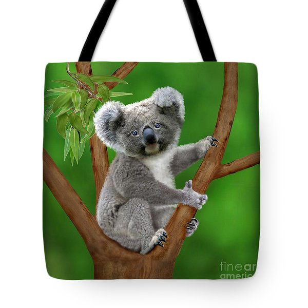 Blue-eyed Baby Koala Tote Bag