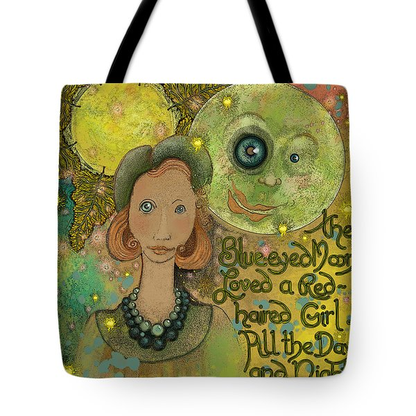 Blue-eyed Moon Tote Bag