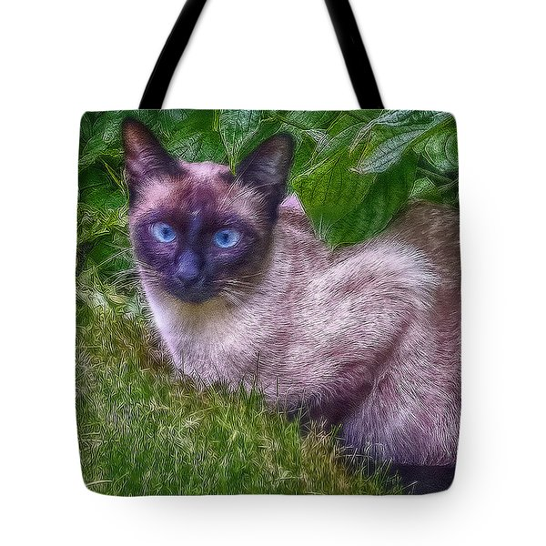 Tote Bag featuring the photograph Blue Eyes by Hanny Heim