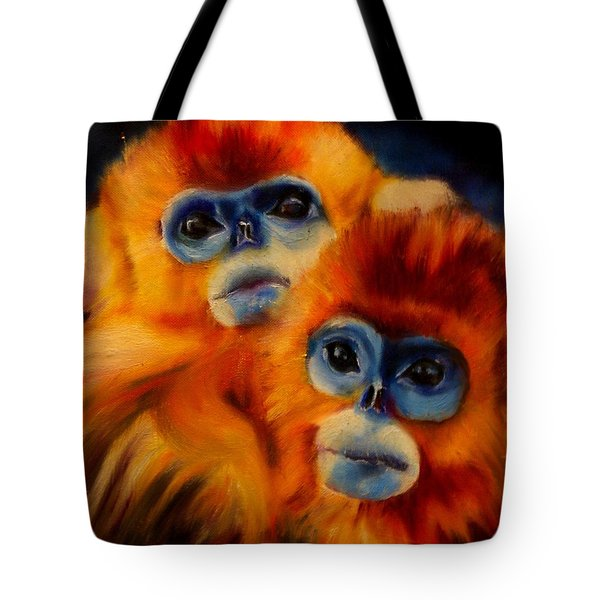 Blue Faced Monkey Tote Bag