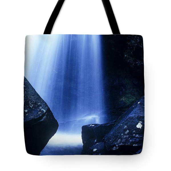 Tote Bag featuring the photograph Blue Falls by Rodney Lee Williams