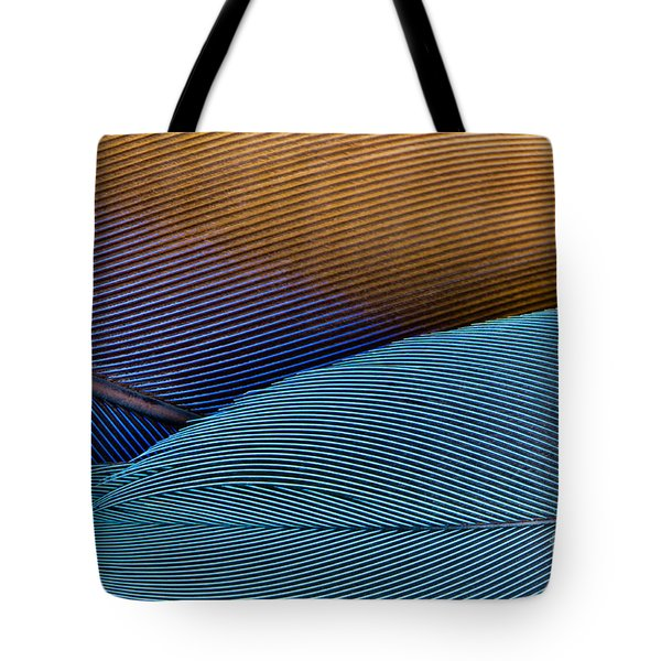 Blue Feathers Tote Bag by Oscar Gutierrez