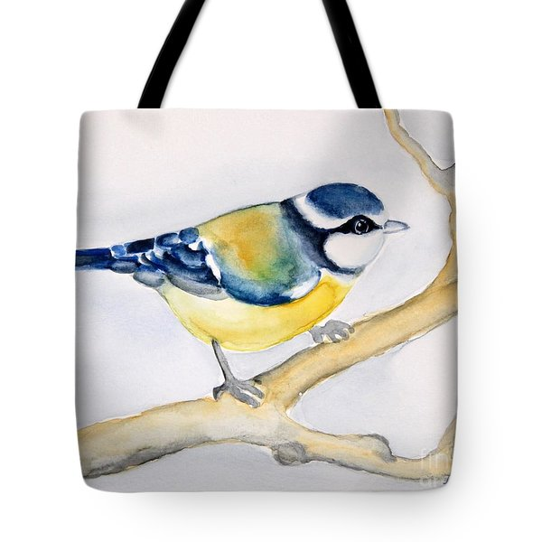 Blue Finch Tote Bag by Inese Poga