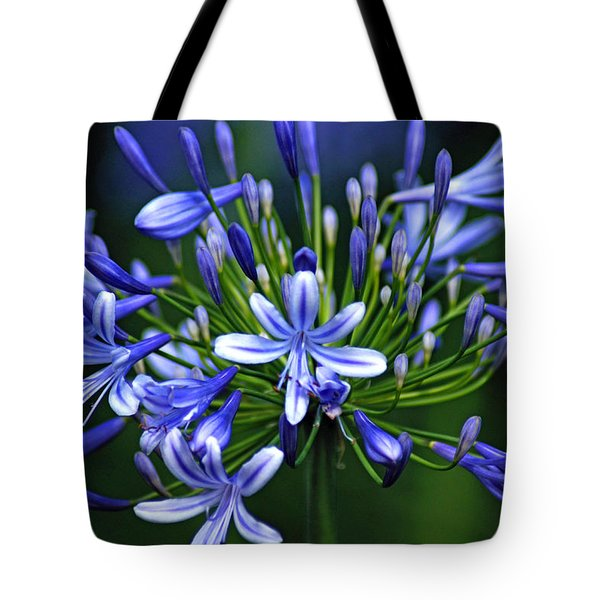 Blue Fireworks Tote Bag