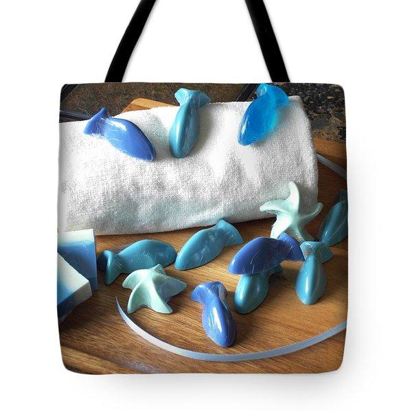 Blue Fish Mini Soap Tote Bag by Anastasiya Malakhova
