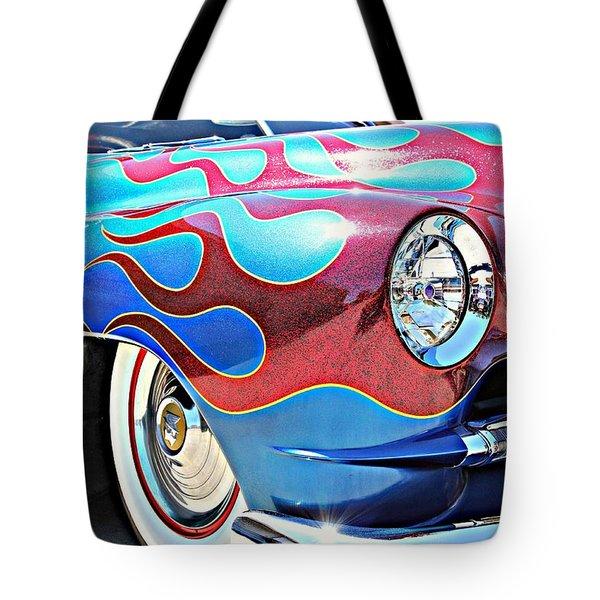Blue Flamed Merc Tote Bag