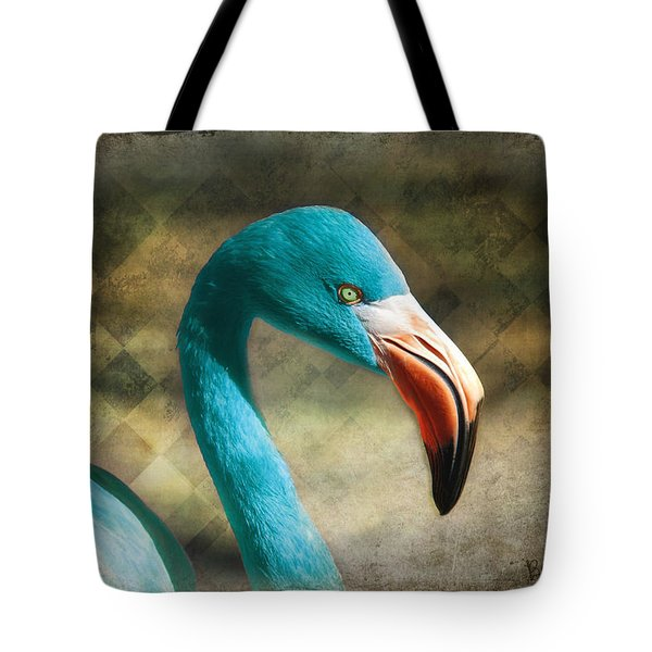 Blue Flamingo Tote Bag