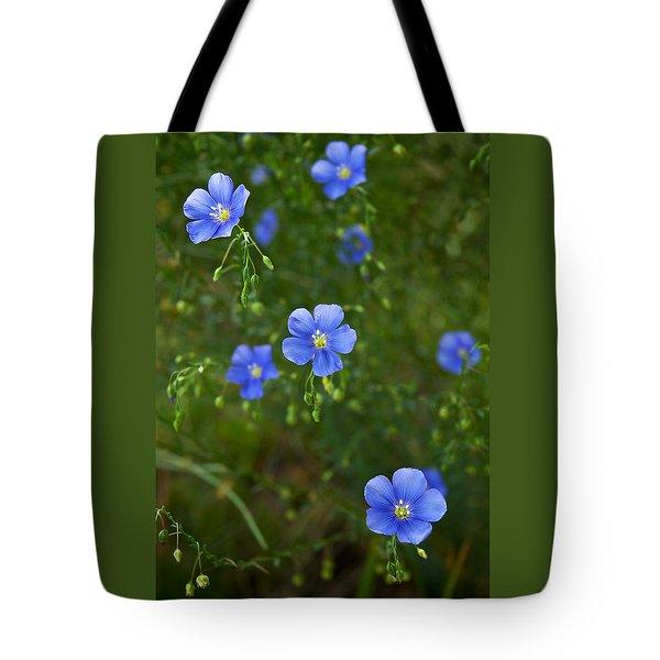 Blue Flax Tote Bag