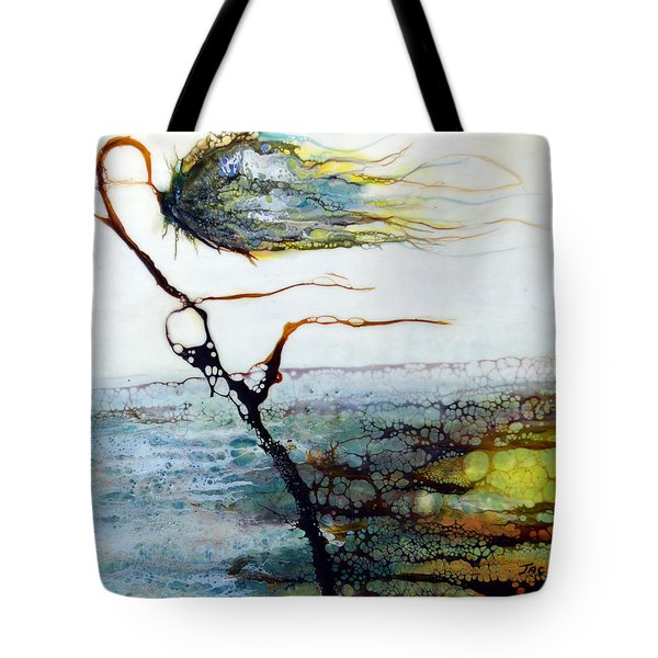 Blue Flower By Stream Tote Bag