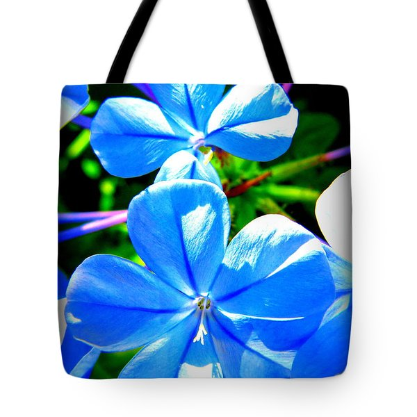 Blue Flower Tote Bag by David Mckinney