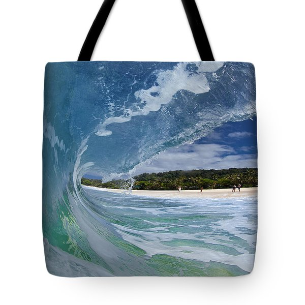 Blue Foam Tote Bag by Sean Davey