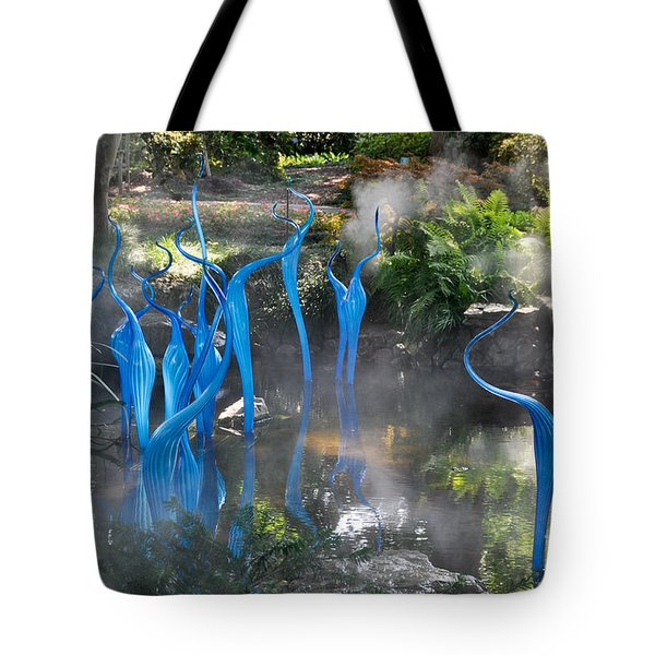 Blue Fog Tote Bag
