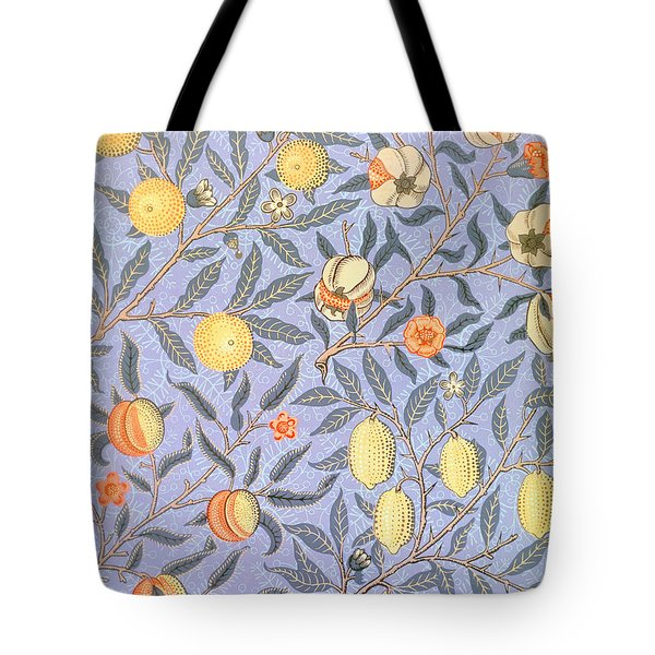 Blue Fruit Tote Bag by William Morris
